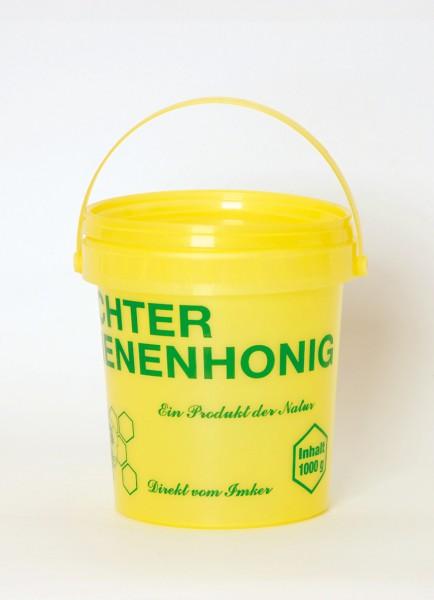 Honigeimer aus Plastik gelb 1 kg