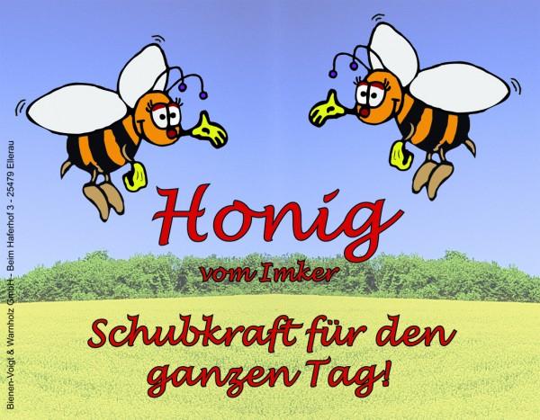 """Autoaufkleber """"Honig vom Imker - Schubkraft für den Tag"""""""