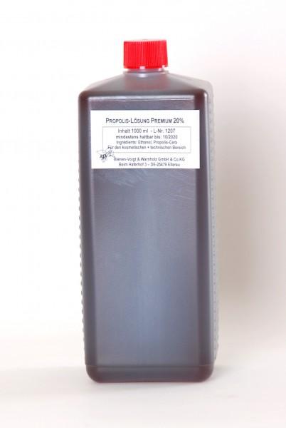 Propolislösung 20% Premium-Qualität 1 l Flasche
