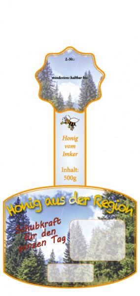 """Rollenetikett mit Namenseindruck """"Wald"""" für 500g Gläser"""
