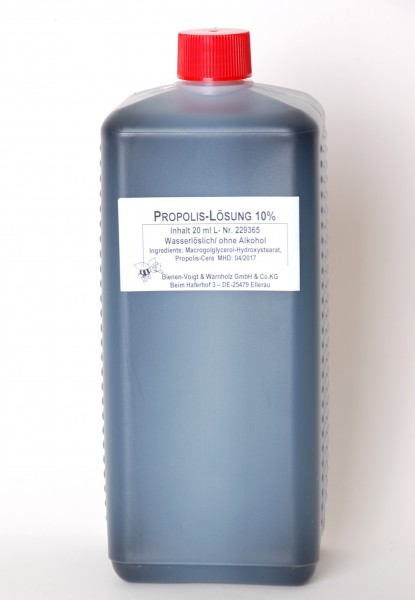 Propolislösung 10% ohne Alkohol 1 l Flasche