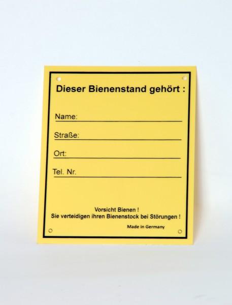 """Schild """"Bienenstand"""" klein"""
