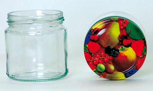 Twist Off Rundglas 212ml TO66 Deckel Obst