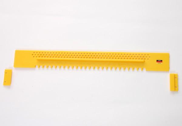 Fluglochschieber, Kunststoff 445 mm lang, gelb