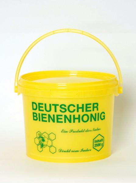 Honigeimer aus Plastik gelb 2,5 kg