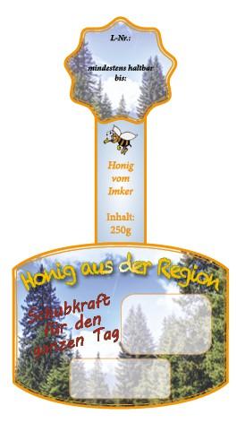 """Rollenetikett mit Namenseindruck """"Wald"""" 250g"""