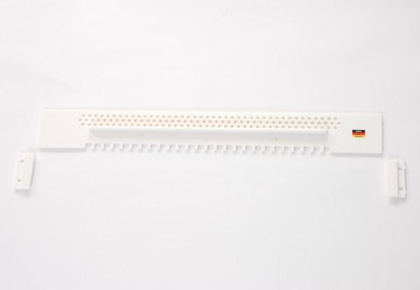 Fluglochschieber, Kunststoff 445 mm lang, weiß
