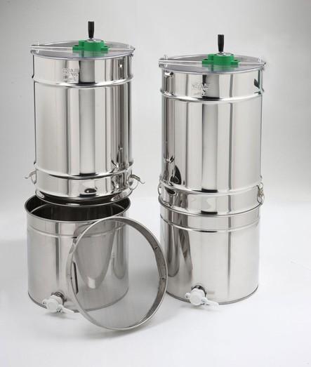 2 Waben Tangential-Schleuder SABRINA mit Sieb und Abfüllbehälter 50kg