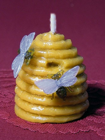 Silikon-Kerzenform Bienenkorb groß
