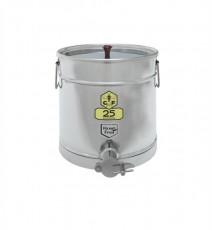Abfüllbehälter Edelstahl 25 kg mit Auflegedeckel