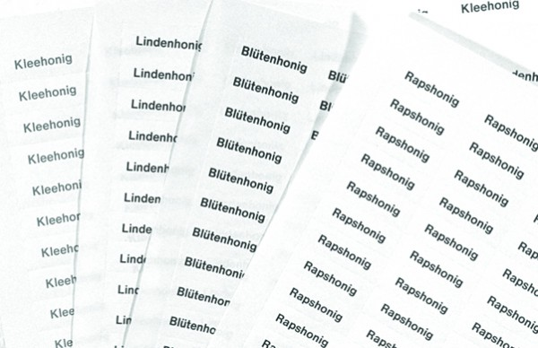 Sortenetiketten - Aufkleber Lindenhonig