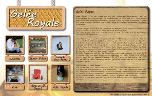 Werbetafel Gelée Royal