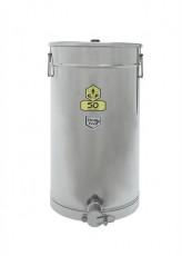Abfüllbehälter Edelstahl 50 kg mit Auflegedeckel