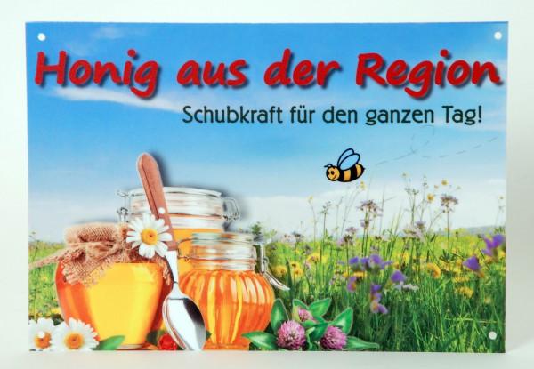 """Außenwerbeschild """"Honig aus der Region"""" 29,7 x 21 cm"""