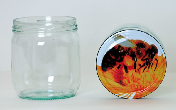 Twist Off Rundglas 425ml TO82 Deckel Biene