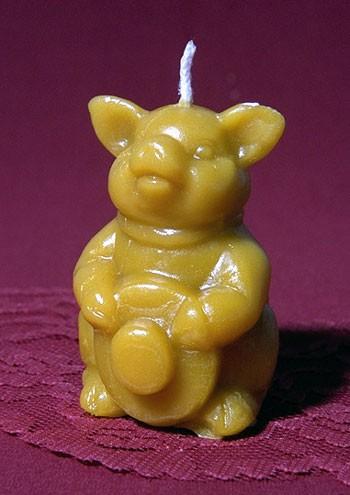 Silikon-Kerzenform Schweinchen männlich