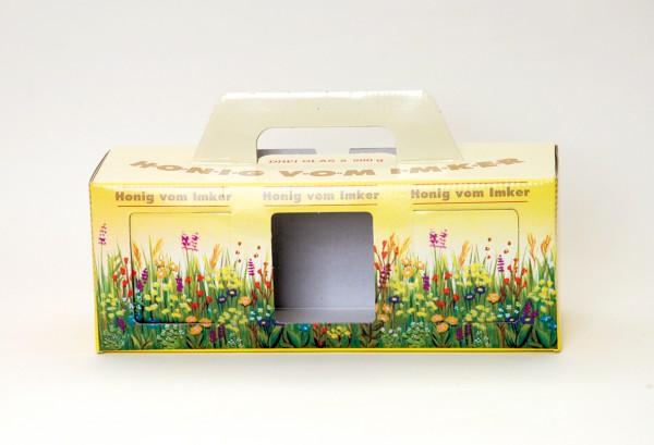 Geschenkschachtel 3-er Karton für 3 Gläser (500gr)