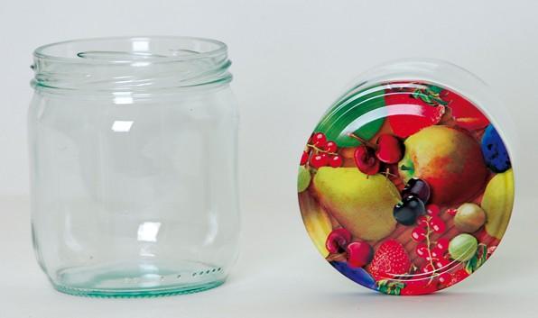Twist Off Rundglas 425ml TO82 Deckel Obst