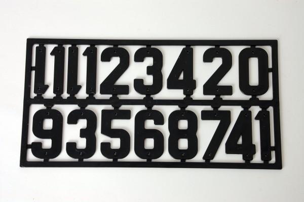Ziffernsortiment, Kunststoff schwarz