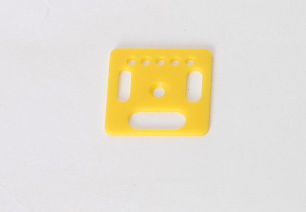 Drehscheibe, eckig, gelb