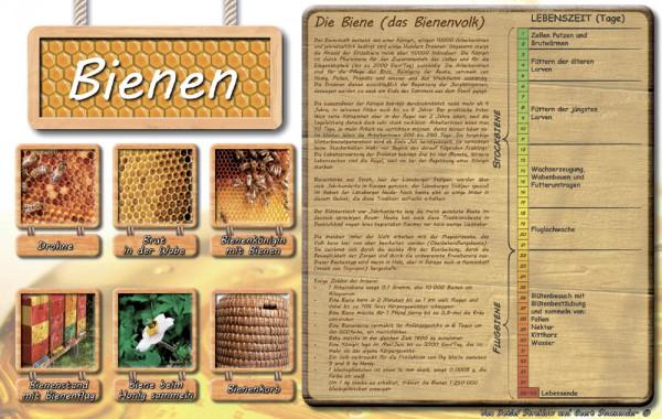 Werbetafel Die Bienen