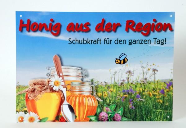 """Außenwerbeschild """"Honig aus der Region"""" 21 x 14,8 cm"""