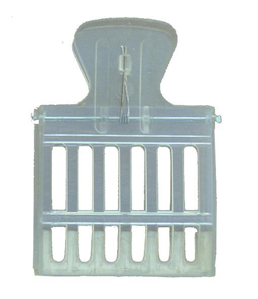 Abfangclip Kunststoff, transparent