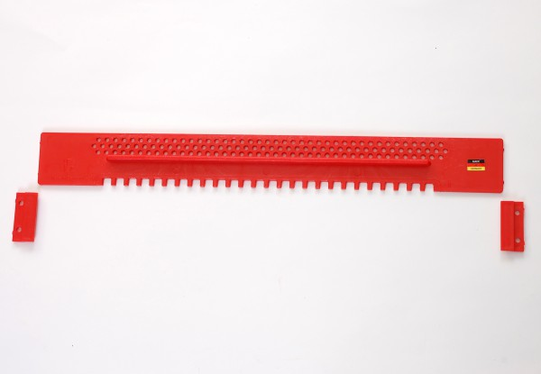 Fluglochschieber, Kunststoff 445 mm lang, rot