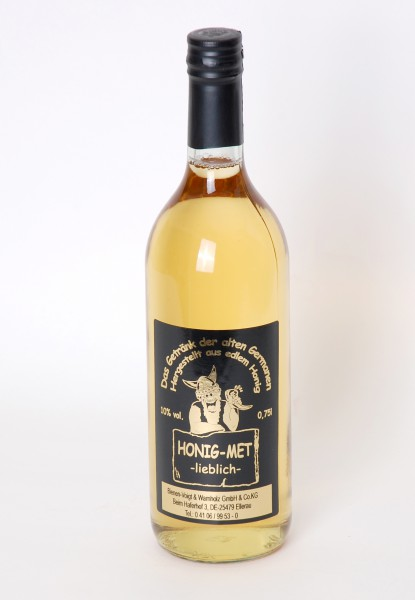 Honigmet, Alkoholgehalt 10 %, Flasche 0,75l